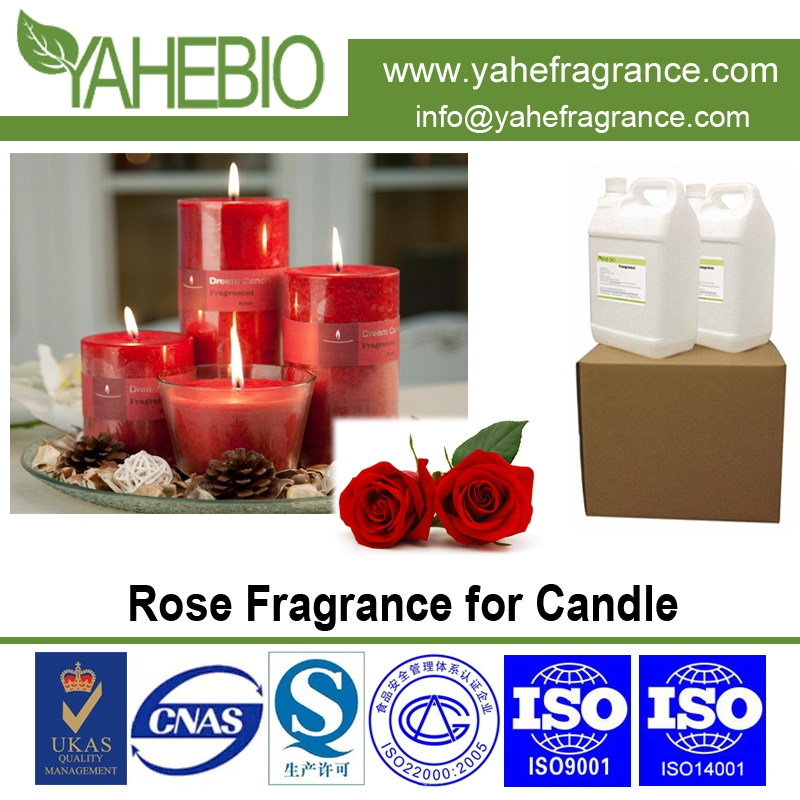 Rose fragrance for candle