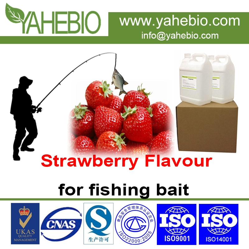Strawberry flavour for fishing bait