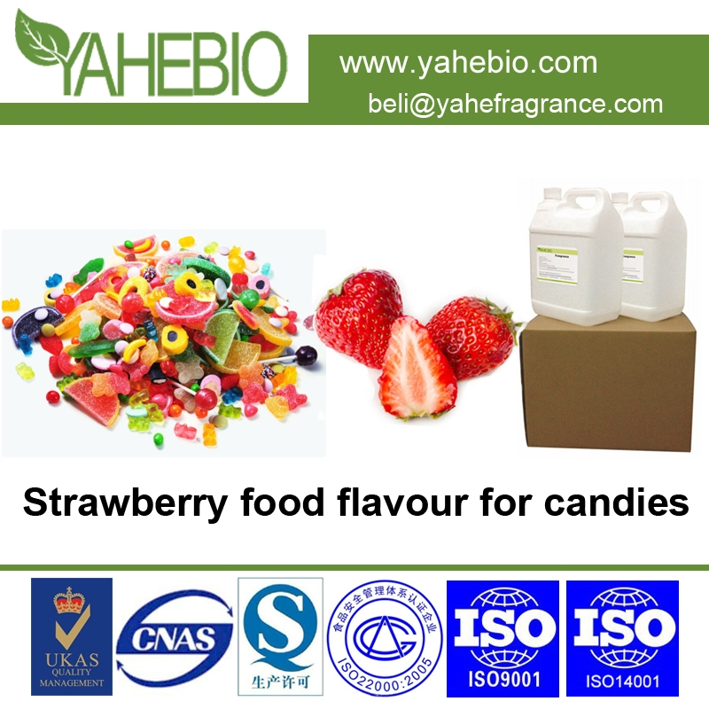 Natural strawberry food flavors use for making candies sweets